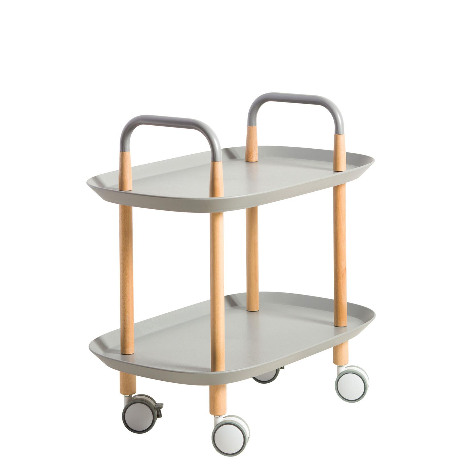 EDGE rulle- sidebord grå