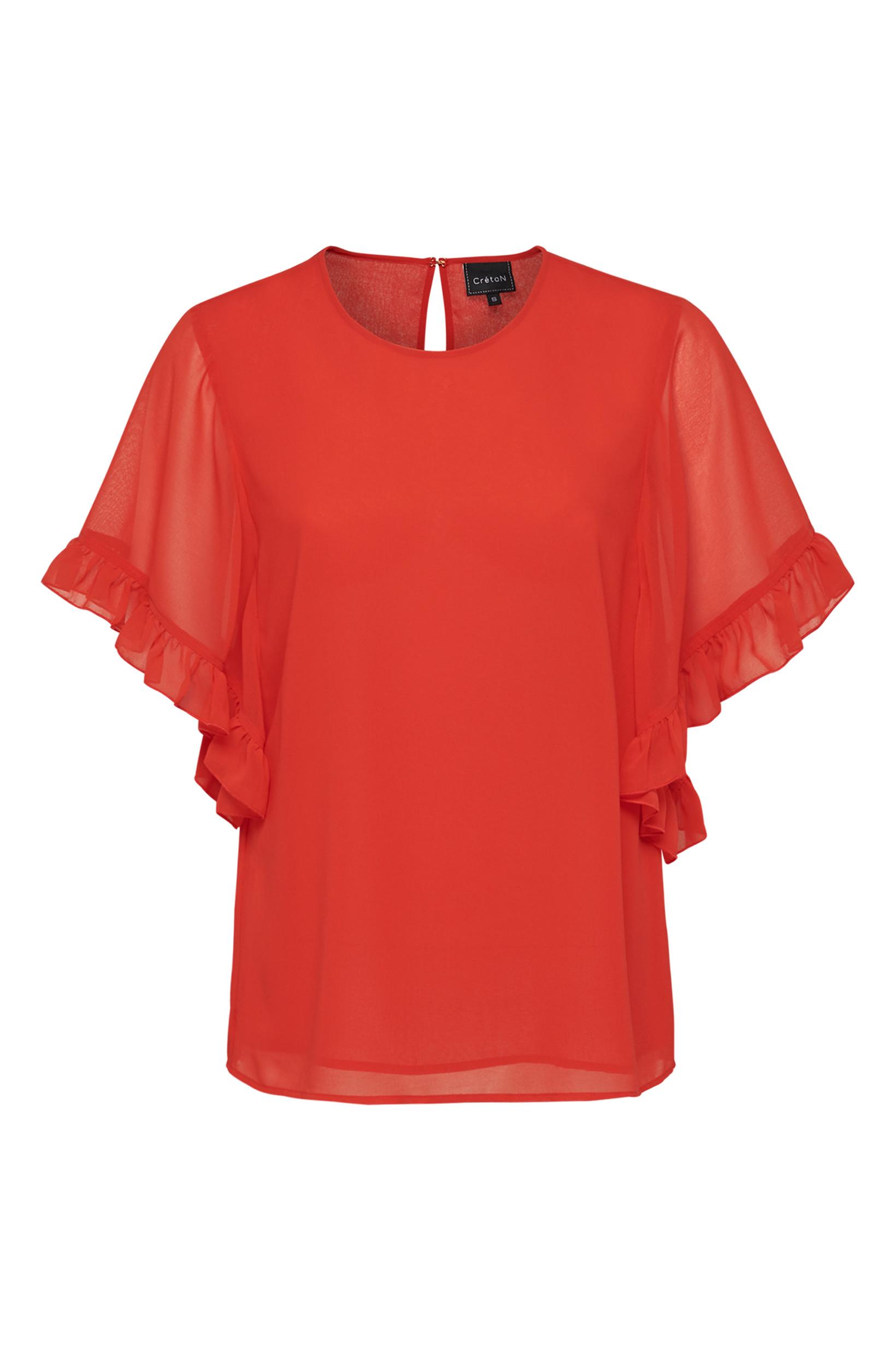 ee864633 CRÉTON Ruffle bluse » Køb den her