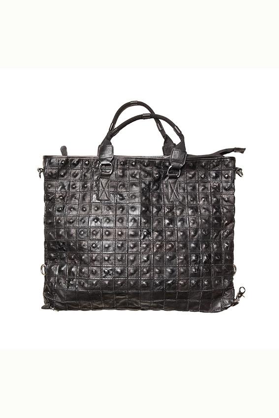 CRÉTON Rivet lædertaske