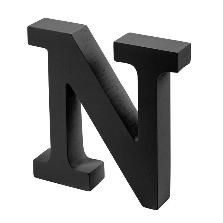 OPENMIND bogstav i træ N