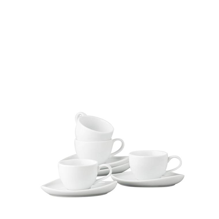 CRÉTON MAISON Gourmet espressokopper med underkopper 4 stk.
