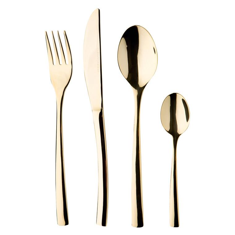 CRÉTON MAISON Gourmet sølv / guld bestiksæt 16 dele