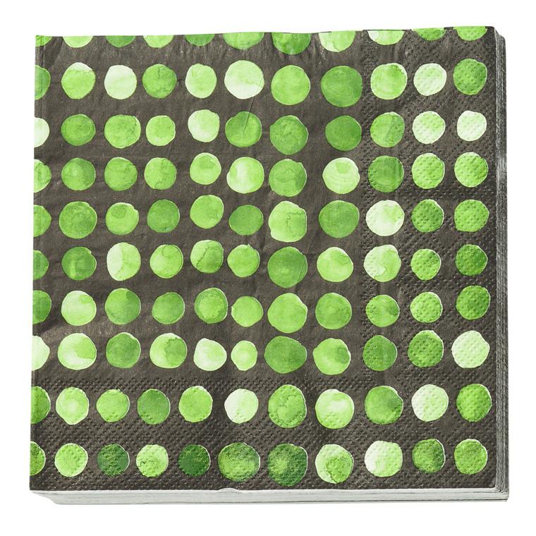 CRÉTON MAISON Papir serviet m.grønne prikker