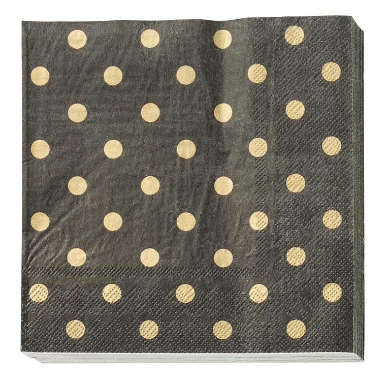 CRÉTON MAISON Papirserviet m.guld prikker