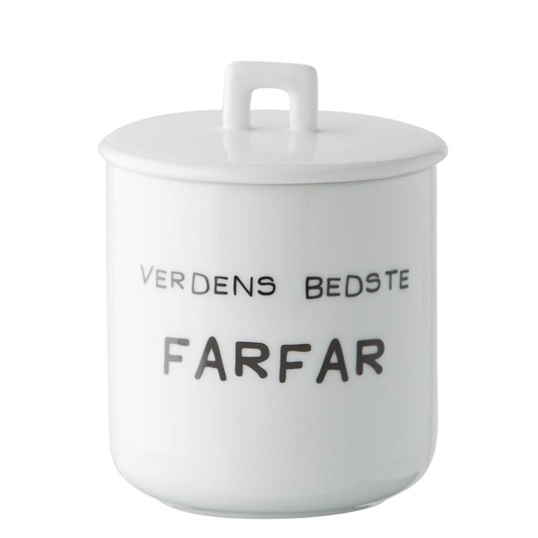 OPENMIND Krus m. porcelænslåg - Verdens bedste farfar
