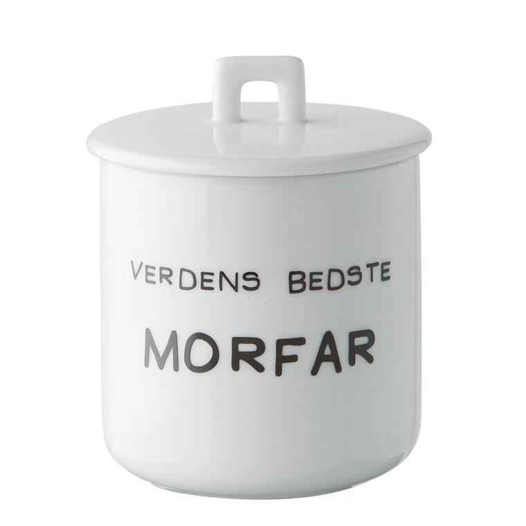 OPENMIND Krus m. porcelænslåg - Verdens bedste morfar