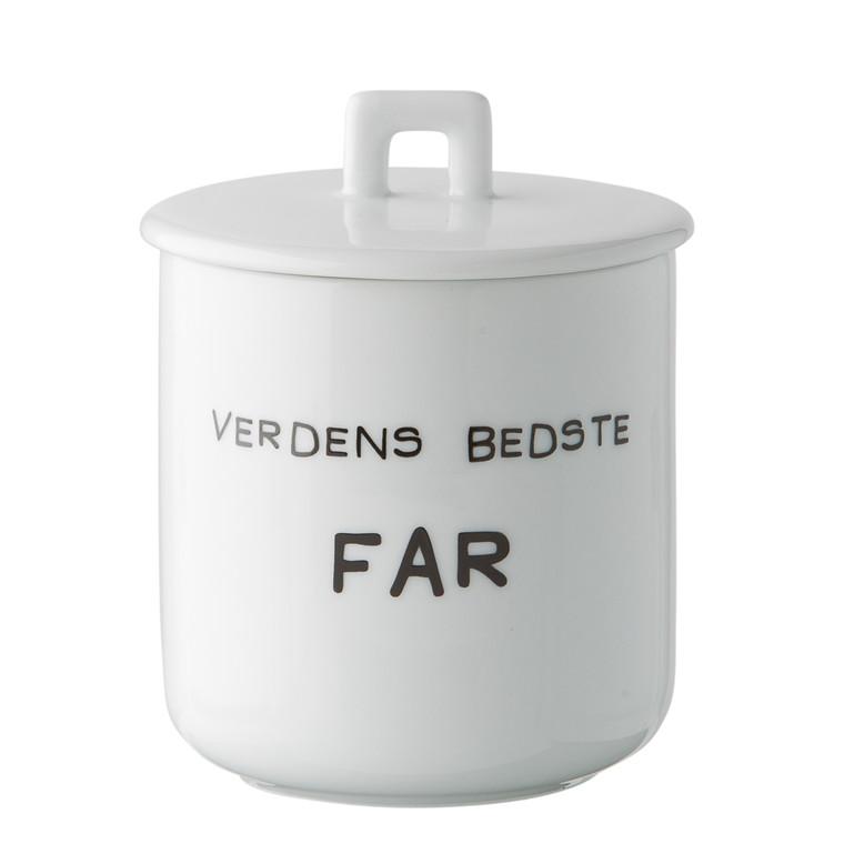 OPENMIND Krus m. porcelænslåg - Verdens bedste far
