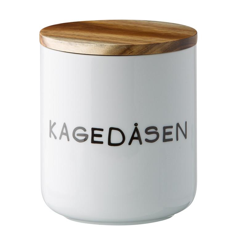 OPENMIND Porcelæn skål med Acacia låg - Kagedåsen