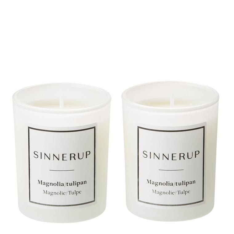 SINNERUP Duftlys magnolia & tulipan 2stk