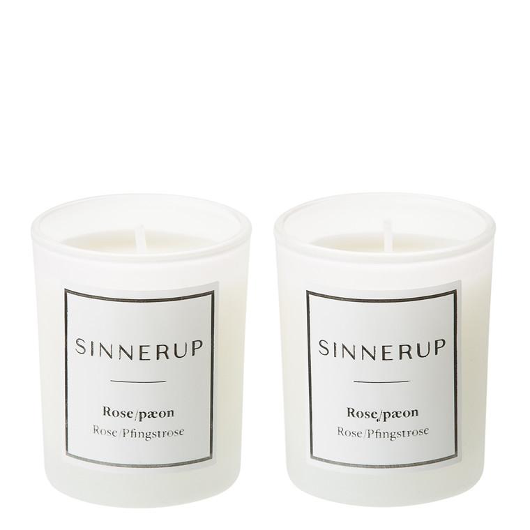 SINNERUP Duftlys rose & pæon 2stk