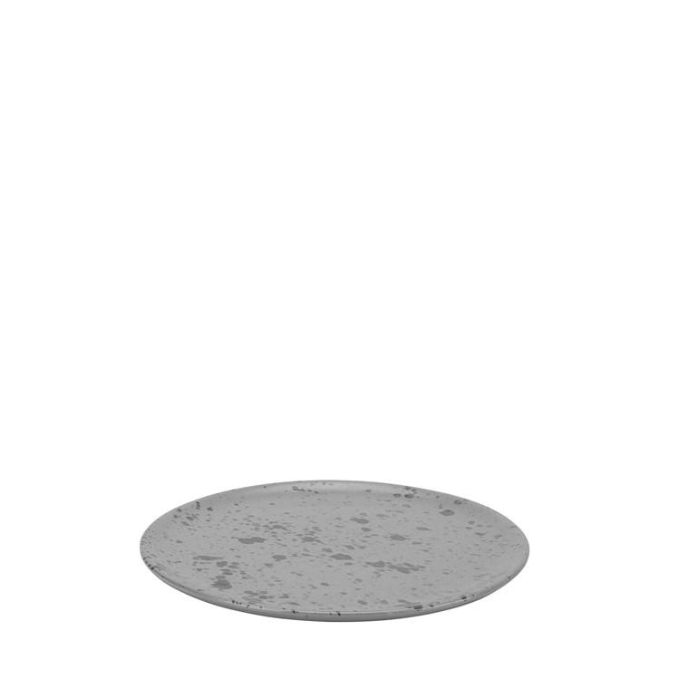 AIDA RAW frokosttallerken grå spotted 20 cm
