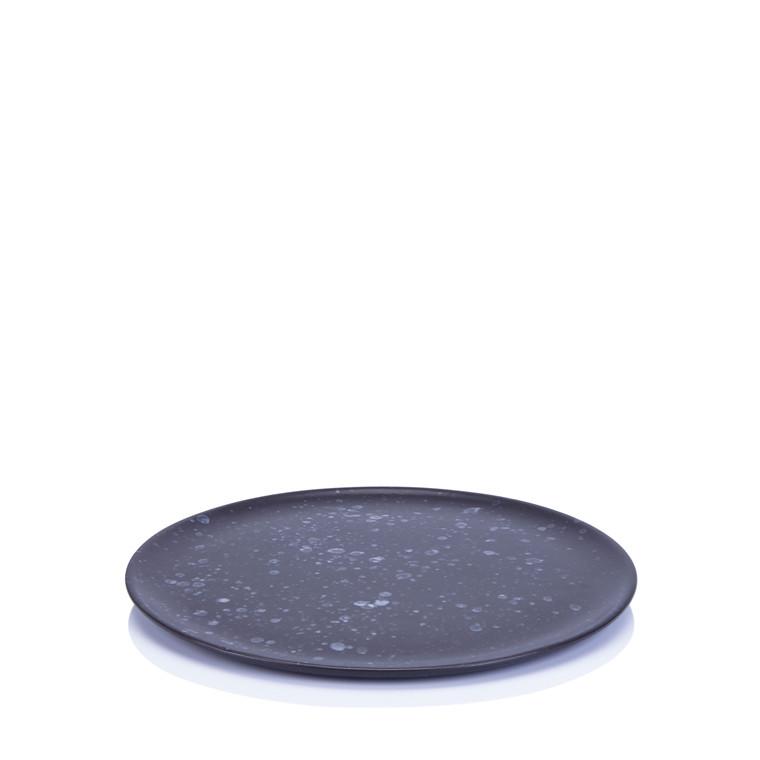 AIDA RAW frokosttallerken sort spotted 23 cm