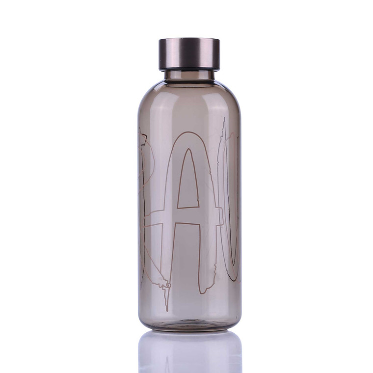 AIDA RAW vandflaske m. print lysegrå