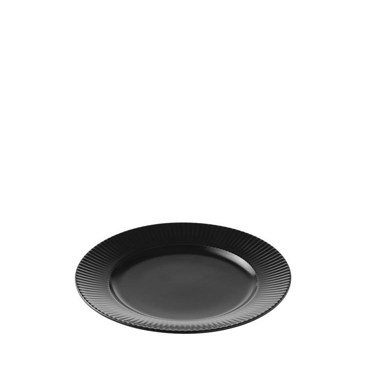 AIDA Groovy frokosttallerken Ø 21 cm sort stentøj