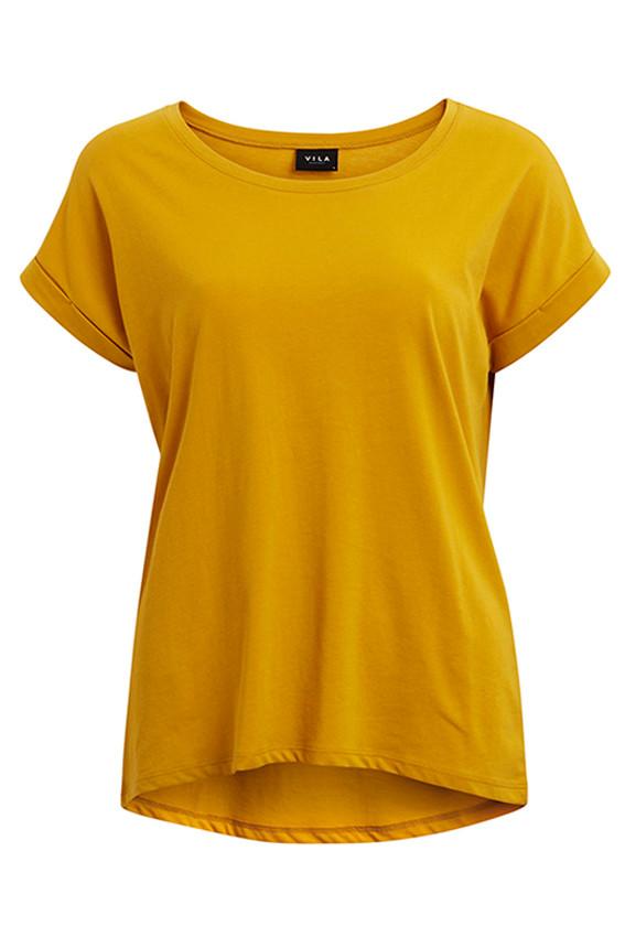 VILA Dreamers t-shirt gylden