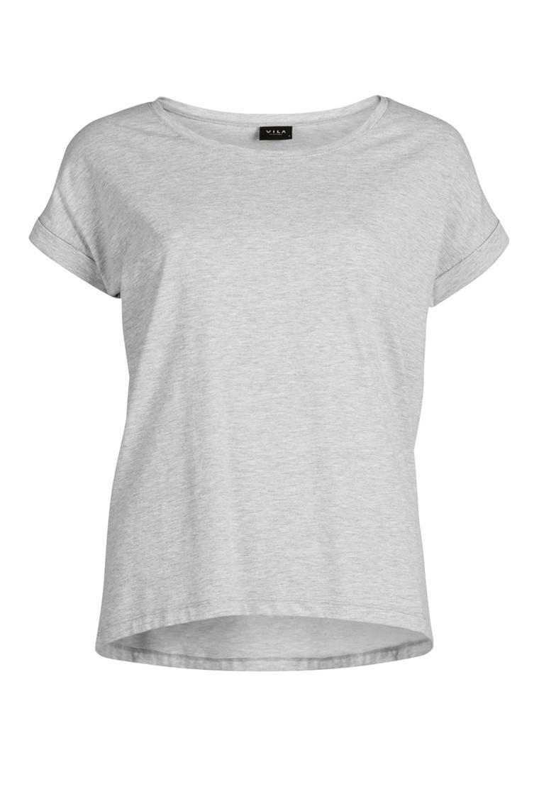 VILA Dreamers t-shirt lys grå