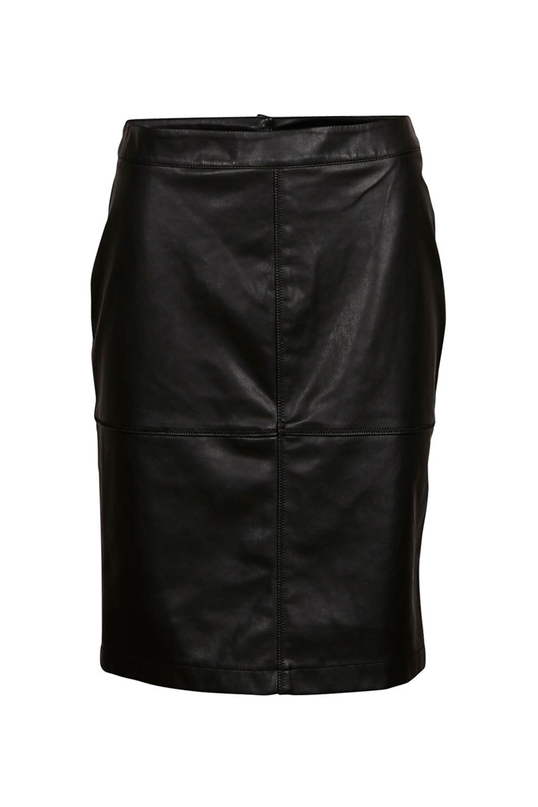 VILA vipen nederdel sort