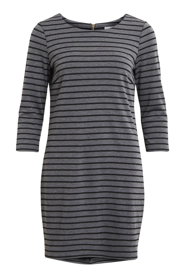 VILA Vitinny new dress grå med striber