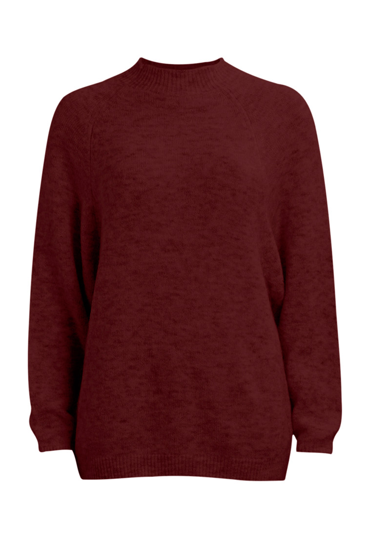 VILA Cant knit top marsala