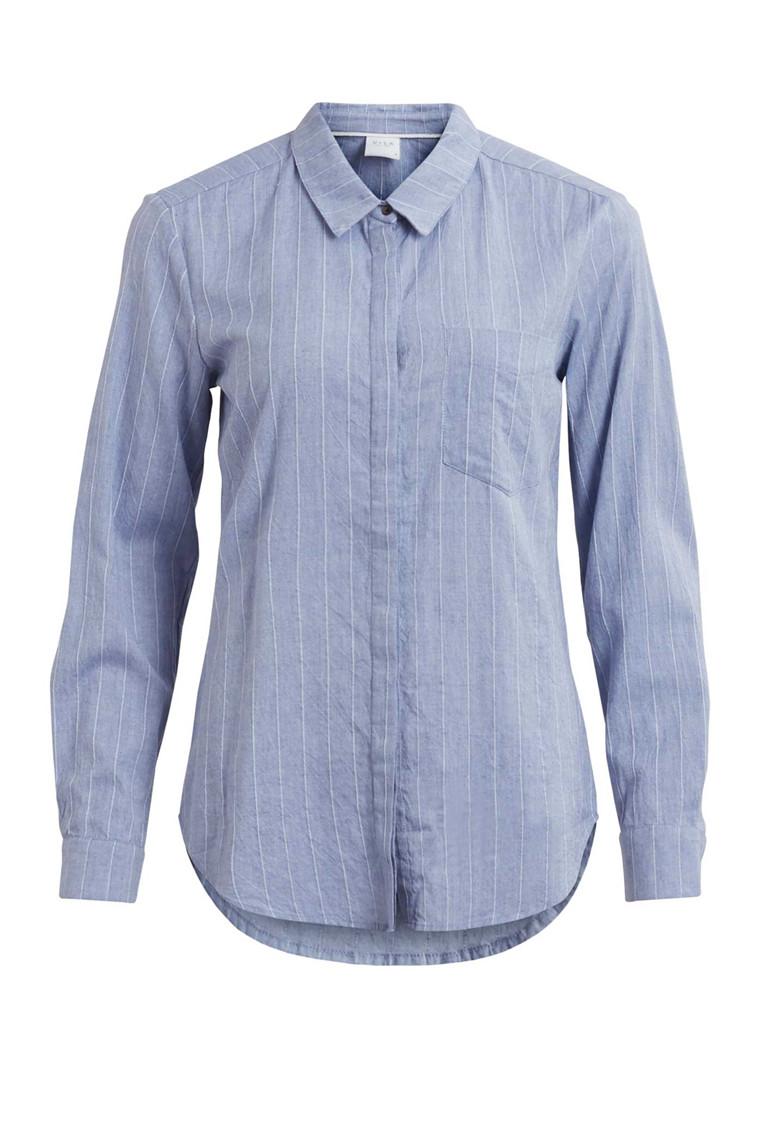 VILA Flida stripe shirt folkstone grey