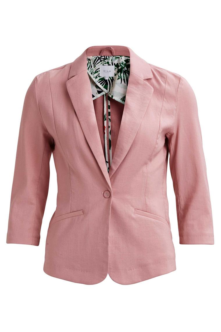 VILA Vimela 3/4 blazer rosa