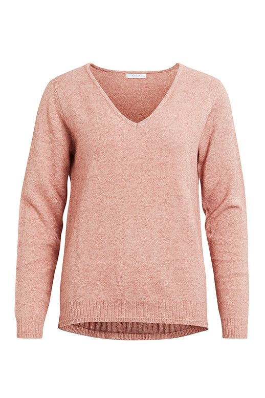 VILA Viril v-neck knit top noos