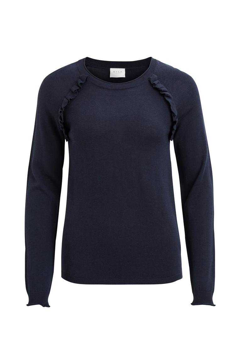 VILA Vilesly frill knit top