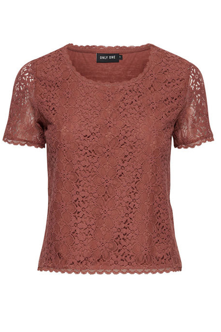 ONLY Calua Lace Top marsala