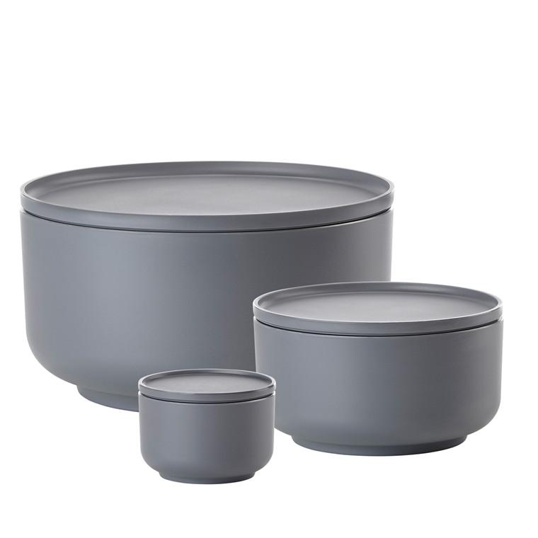 Zone Peili skålesæt  3 stk cool grey