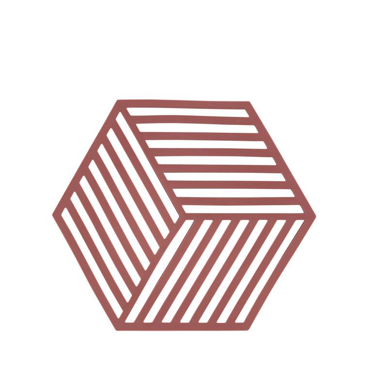 Zone Hexagon bordskåner siena red