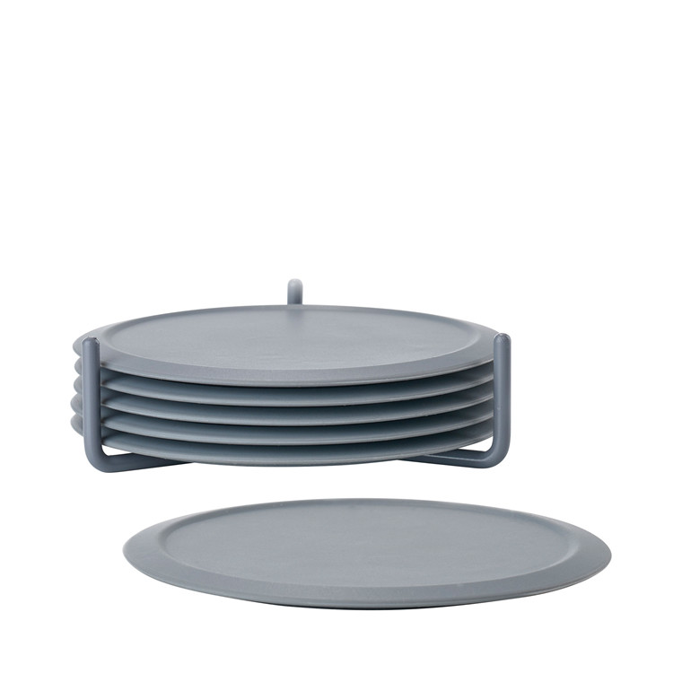 ZONE Glasbrikker i silikone m. holder cool grey