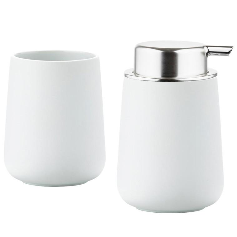 ZONE Sæbedisp/tanskrus White Nova s
