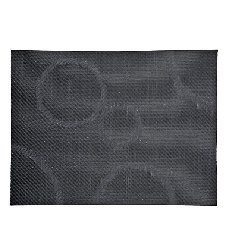 ZONE Dækkeserviet 40 x 30 cm grå m. cirkler