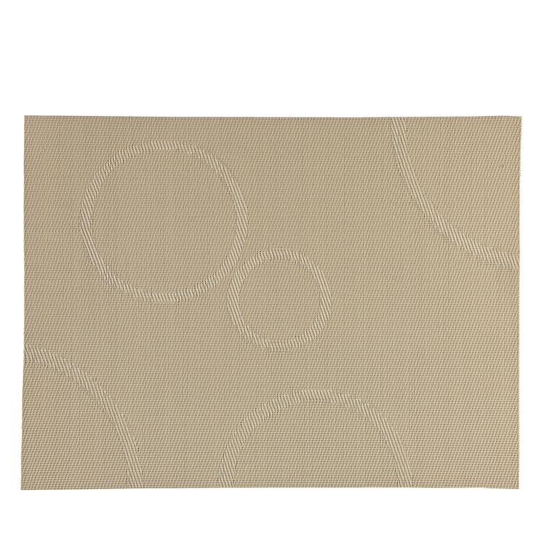 Zone dækkeserviet sand med cirkler