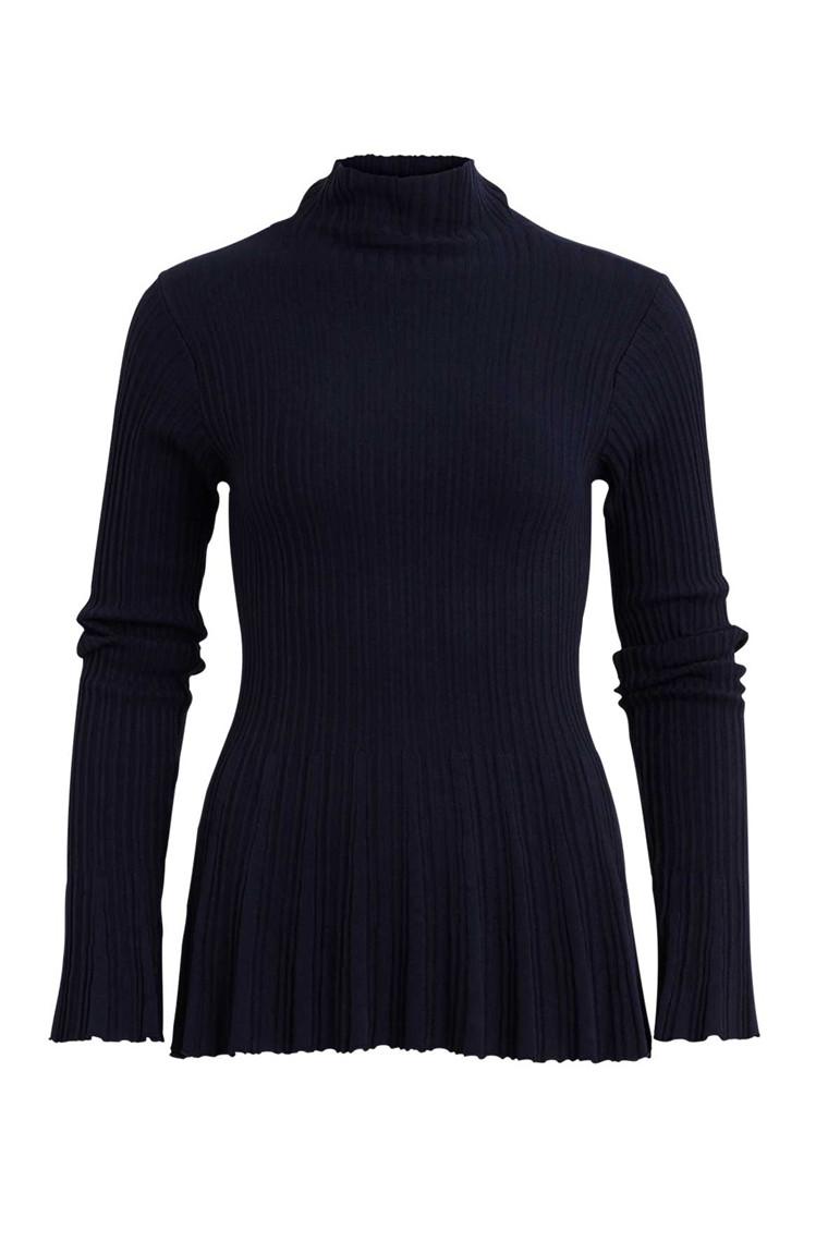 VILA Vinow turtleneck knit top blå