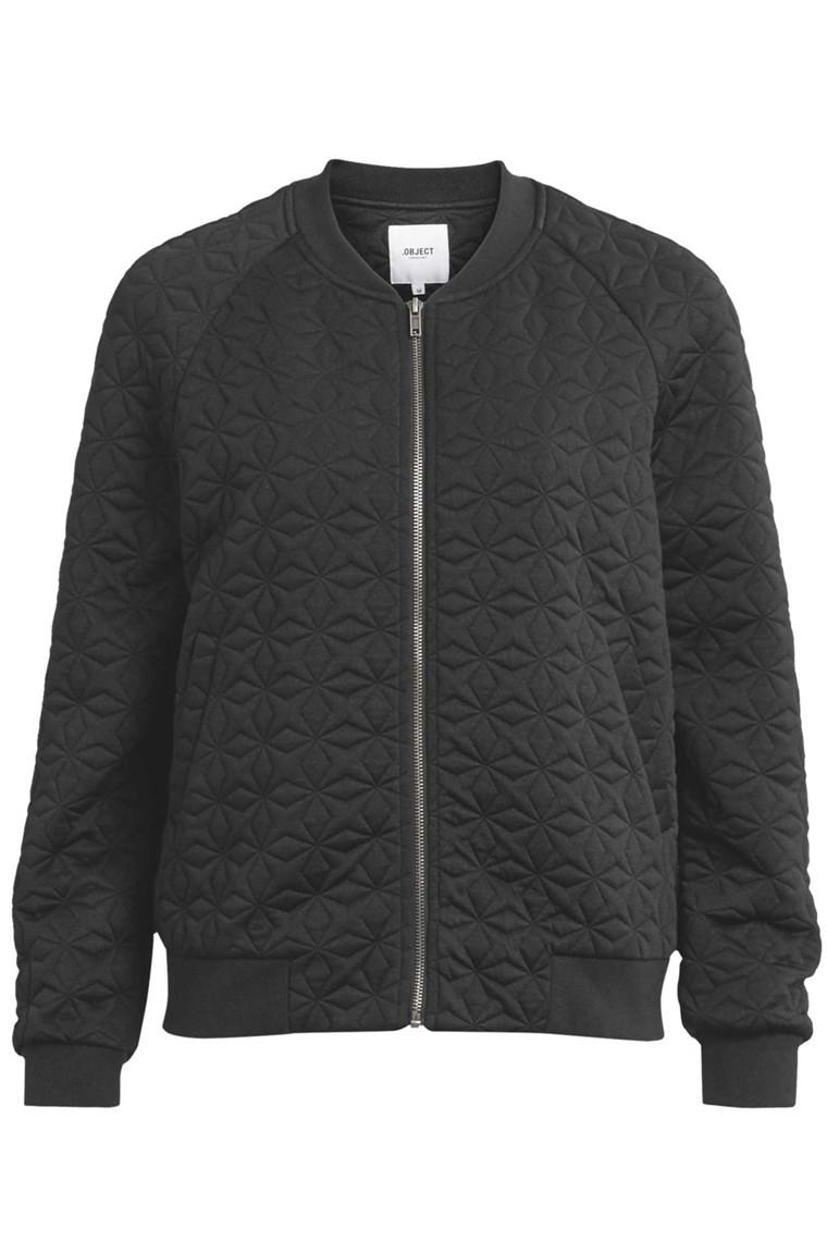 OBJECT Kasandra L/S Bomber jacket sort