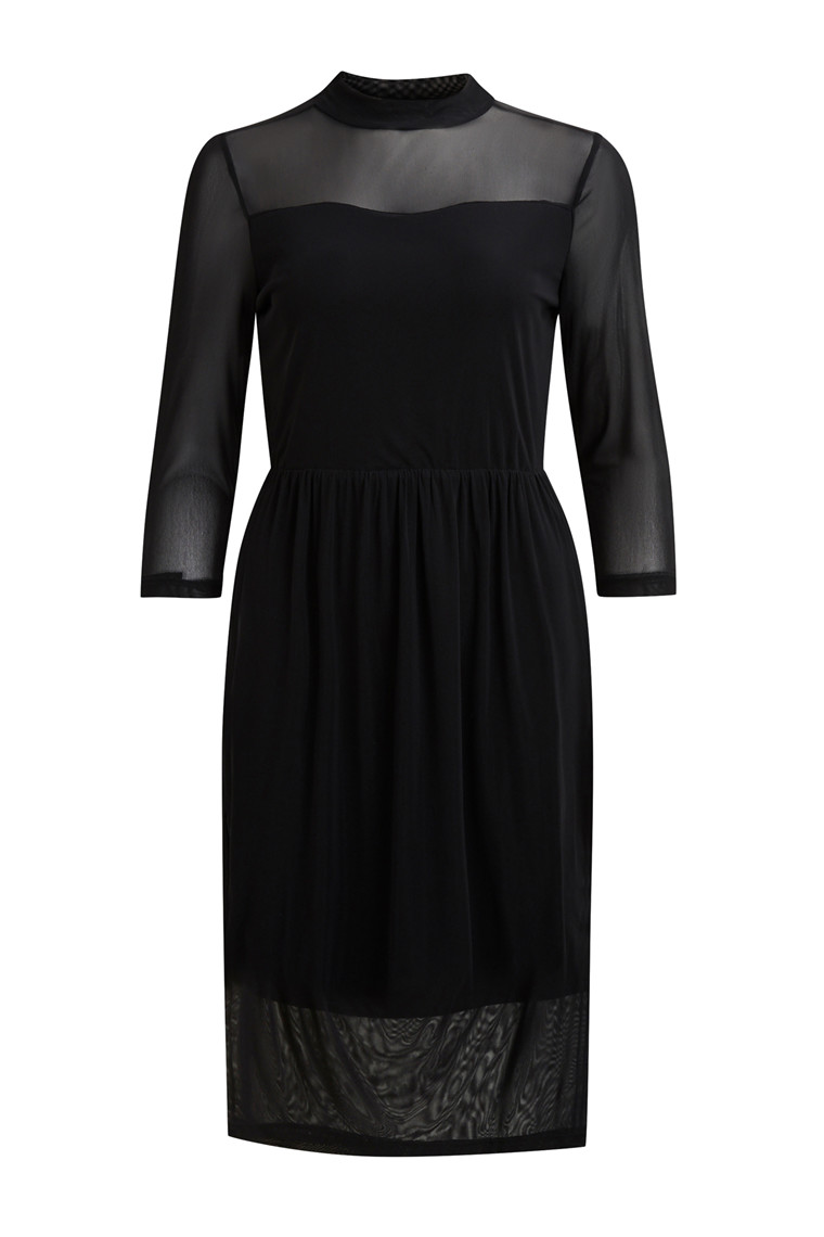 OBJECT Czech high neck  midi dress