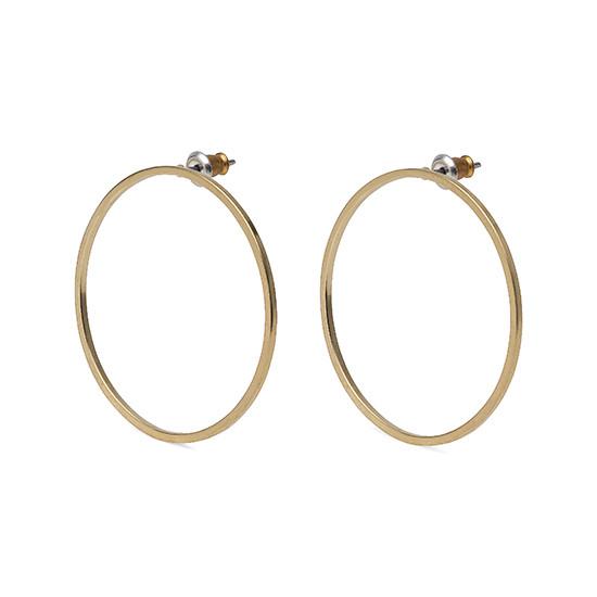 PILGRIM Hoop øreringe, guld