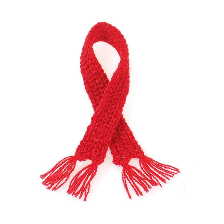 Edo strikket haltørklæde rød lille