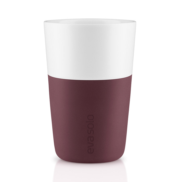 EVA SOLO Cafe Latte krus 2 pak dark burgundy