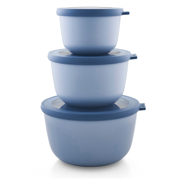 MEPAL Cirqula skålesæt høj 3 dele retro blå