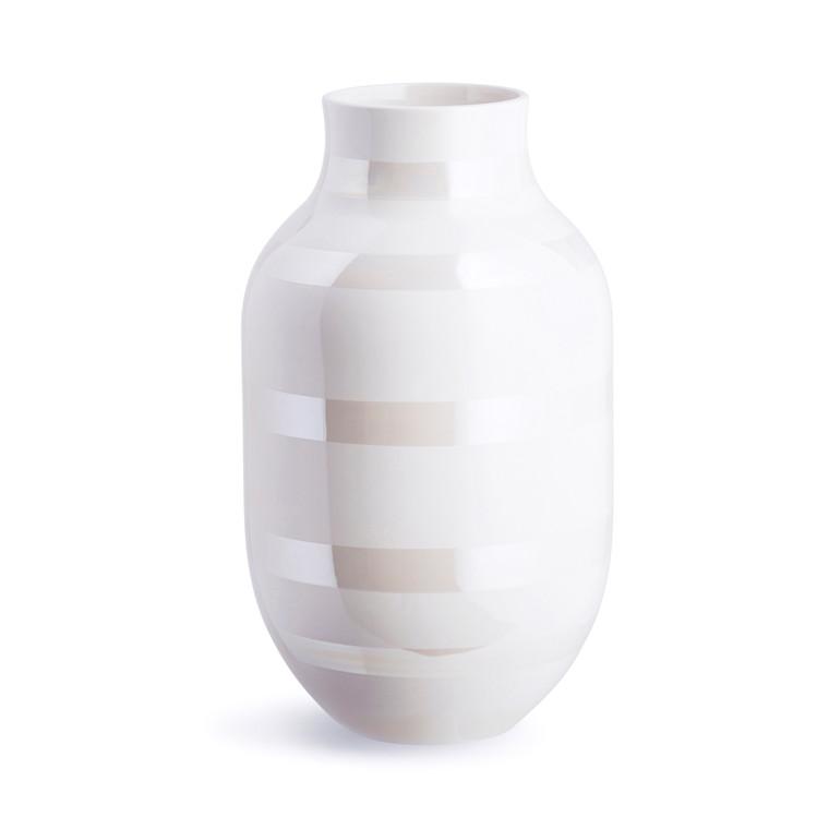 KÄHLER Omaggio vase 30,5 cm perlemor