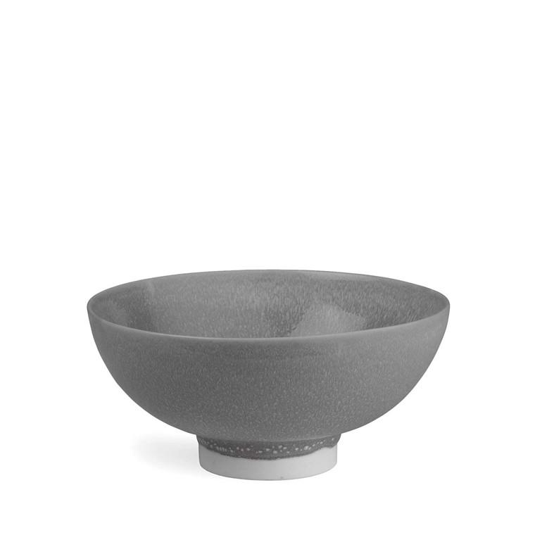 KÄHLER Unico skål grå Ø 18 cm