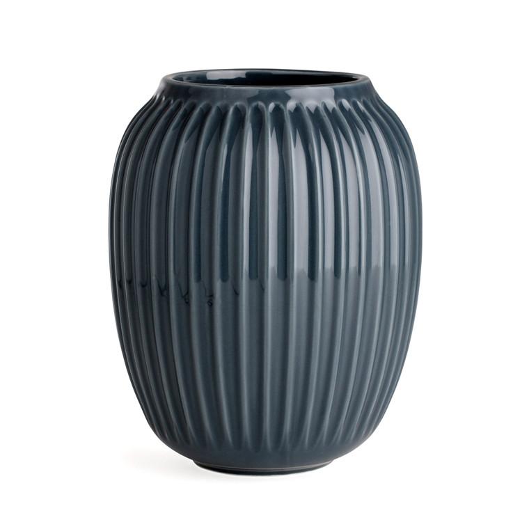 Kähler Hammershøi vase 20 cm antracitgrå