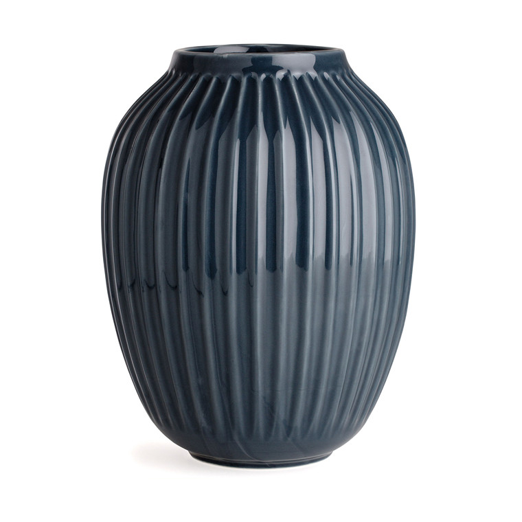 KÄHLER Hammershøi vase 25 cm antracitgrå