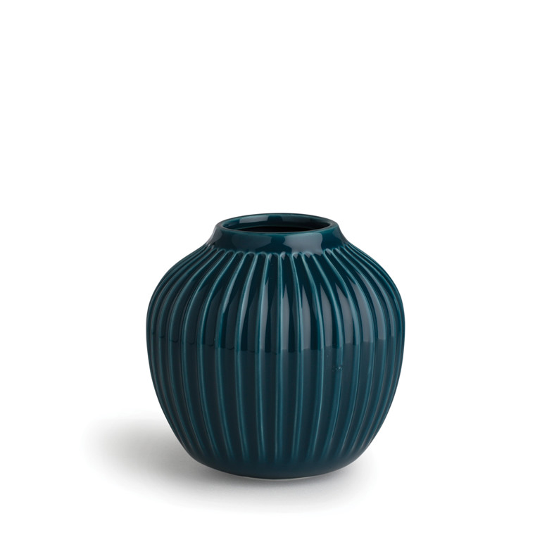 KÄHLER Hammershøi vase 12,5 cm petrol