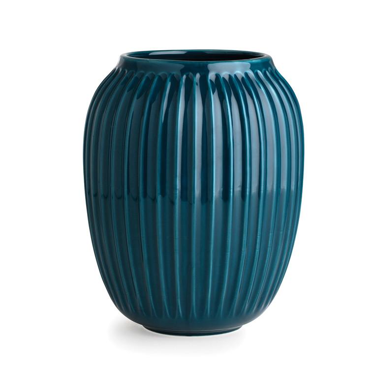 KÄHLER Hammershøi vase 20 cm petrol
