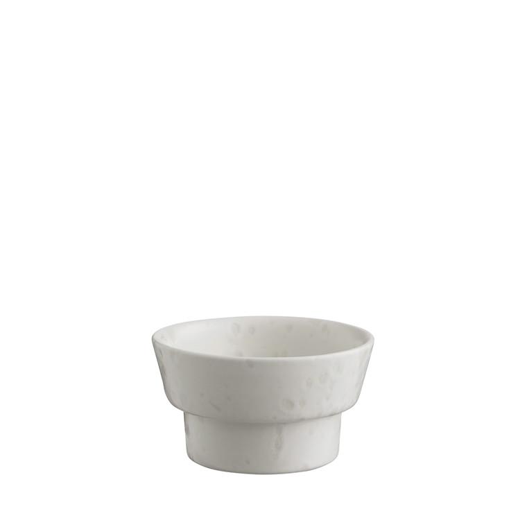KÄHLER Ombria bloklysestage 5 cm marmorhvid