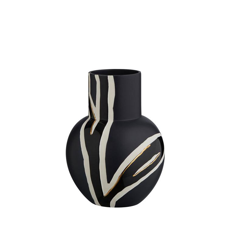 KÄHLER Fiora vase H 25 cm midnatsblå