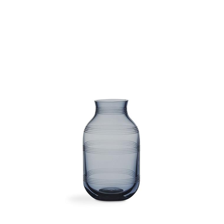 KÄHLER Omaggio vase H140 Ø82mm Stålbl